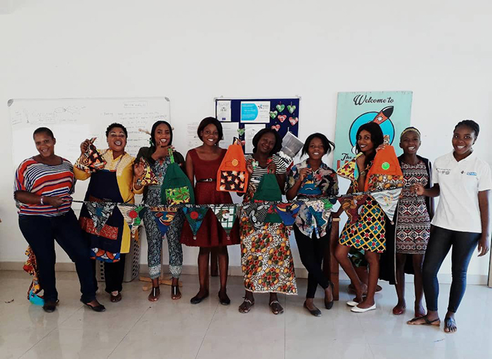 Kozo Girls at their workshop in Lusaka, Zambia.