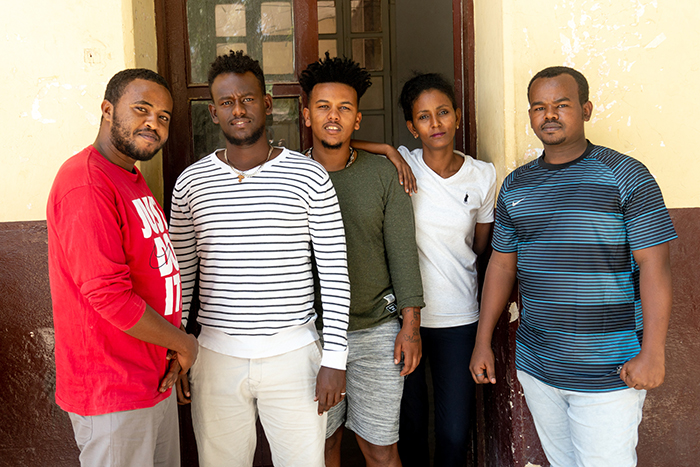 Bereket (center) with other young influencers who are working to build peace in Ethiopia. (Photo: Pact)