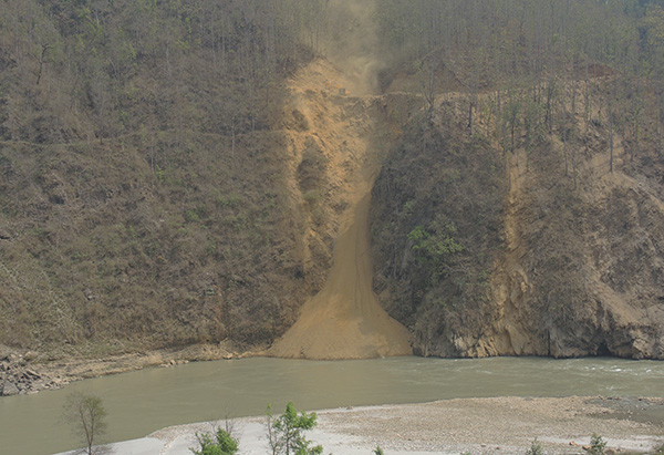 Roads in Nepal's steep mountains tend to erode quickly without preventative measures.