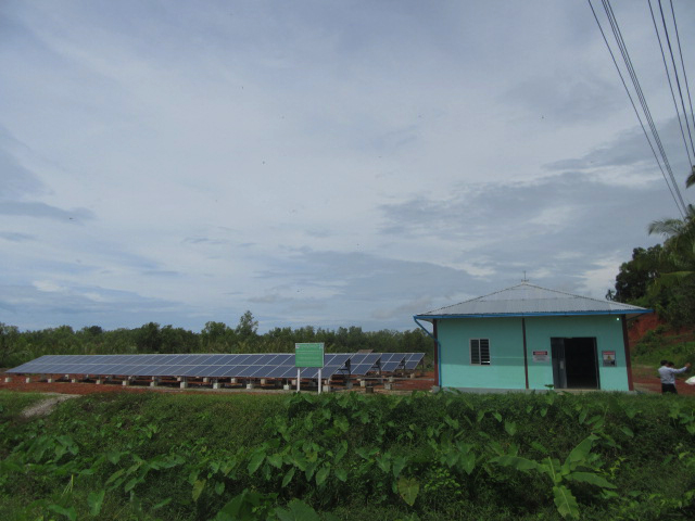 A Pact-supported solar mini grid in southern Myanmar.