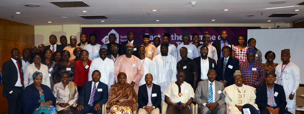 Participants in the Pact-hosted Nigeria development dialogues discussion in February 2017.