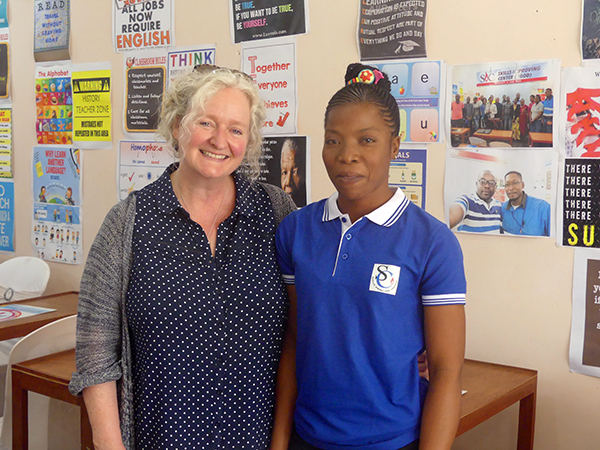Huguette with Karen Hayes, Pact's Mines to Markets vice president