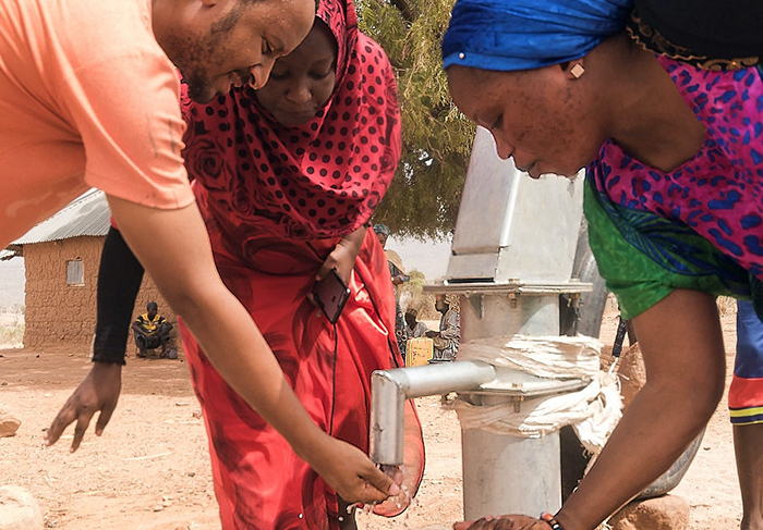 A borehole funded by the Chigaba mothers group.