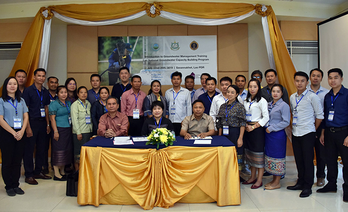 Graduates of the initial groundwater management training.