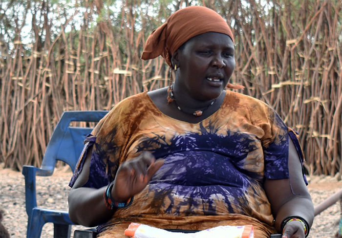 As a volunteer with Pact's SEEK project, Miriam Lowarengak brings together women in Kenya and Ethiopia to build peace in their communities. (Credit: Pact)