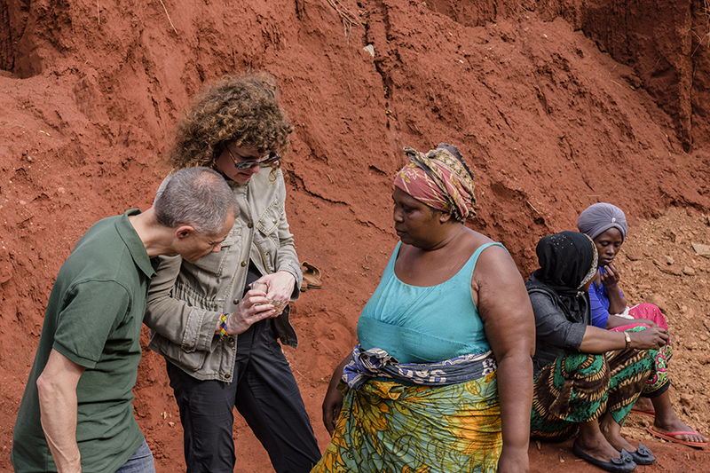 Nineteen48's Stuart Pool and ANZA's Monica Stephenson visit a gemstone mine in Tanga.