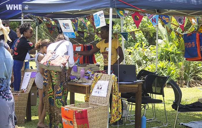 Kozo Girls selling their products at a recent Zambian faire.