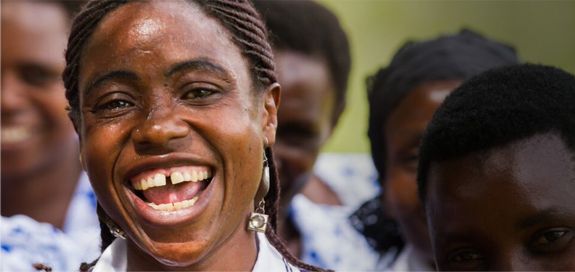 caption: A member of a Pact WORTH group in Karagwe, Tanzania.