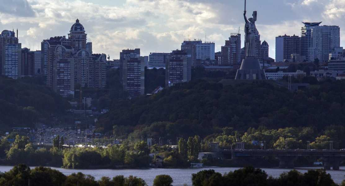 The Kiev skyline from afar. (Photo: Brian Clark/Pact)