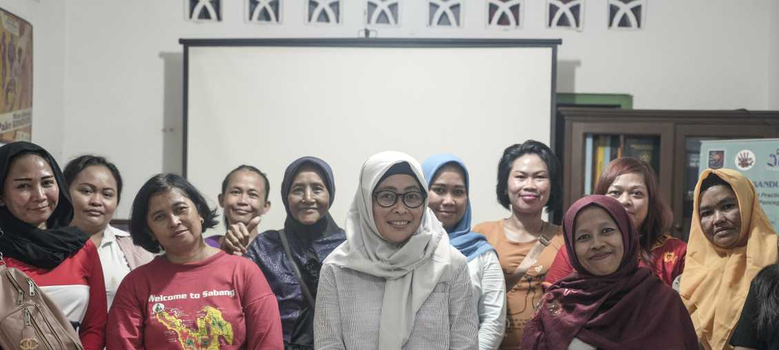 Bandung Wangi, an Indonesian organization that provides HIV services for current and former sex workers, has strengthened its capacity with Pact's support. This photo was taken just before the start of the Covid pandemic. (Photo: Brian Clark/Pact)