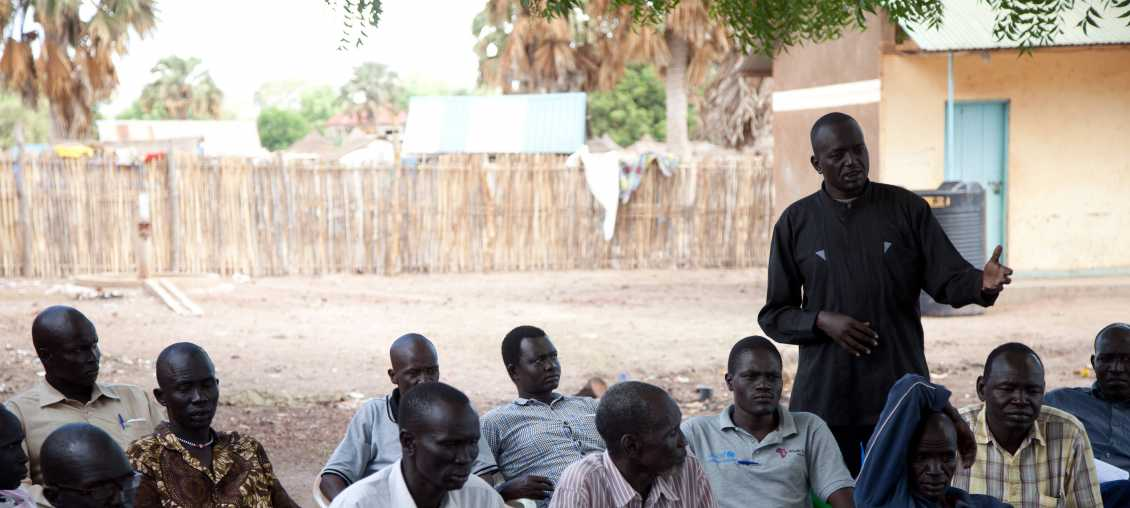 Community meeting in South Sudan
