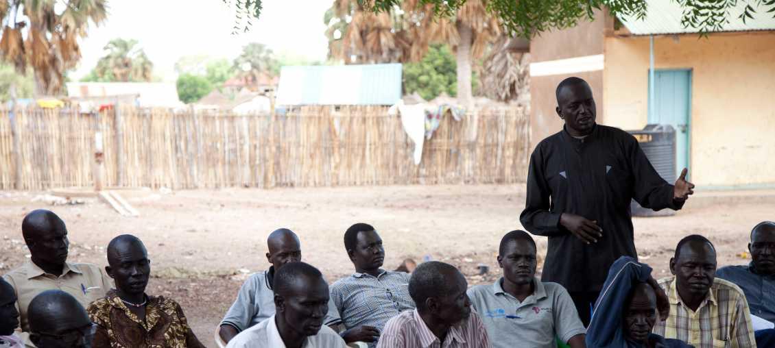 Community meeting in South Sudan