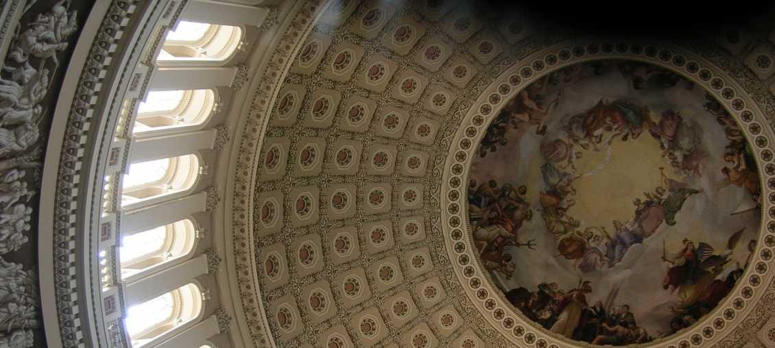 US Capitol dome interior view