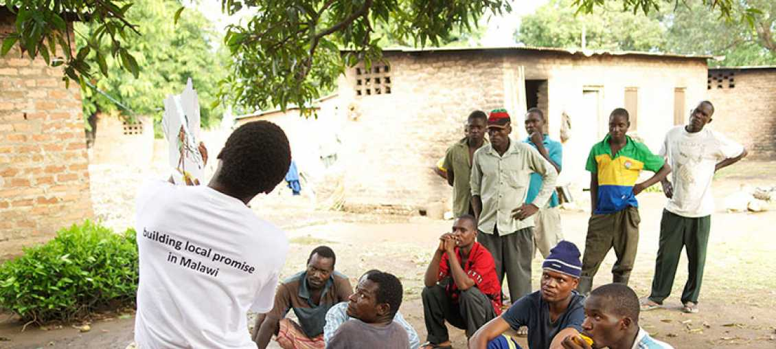community meeting in Malawi
