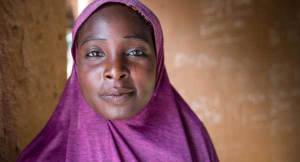 A member of a Pact WORTH group in Nigeria. (Credit: Maggie Dougherty/Pact)