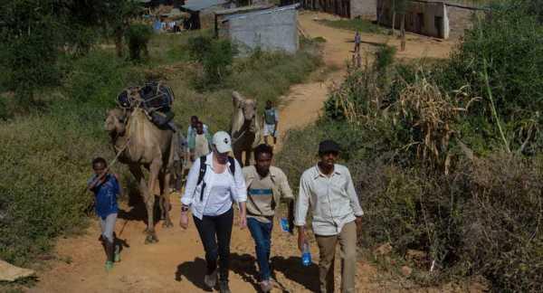 Hiking to Ethiopia gold mine