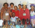 AZWIM members showcasing their jewelry made from Development Minerals at ASM18.