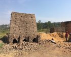 Artisanally mined bricks for construction in Rwanda