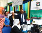 Dr Zainab Chaula, Acting Permanent Secretary of PO-RALG, accepts technology.