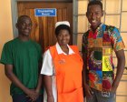 Justin Mwaba, Mirriam Phiri Biemba and Daniel Chiofu at the Twapia Health Center.