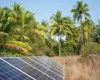 Solar panels in rural Myanmar
