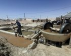 Mineral processing with wet pan mills in Chami, Mauritania. (Credit: Pact)