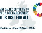 We Have Called on the PM to Create a Green Recovery that is Just for All