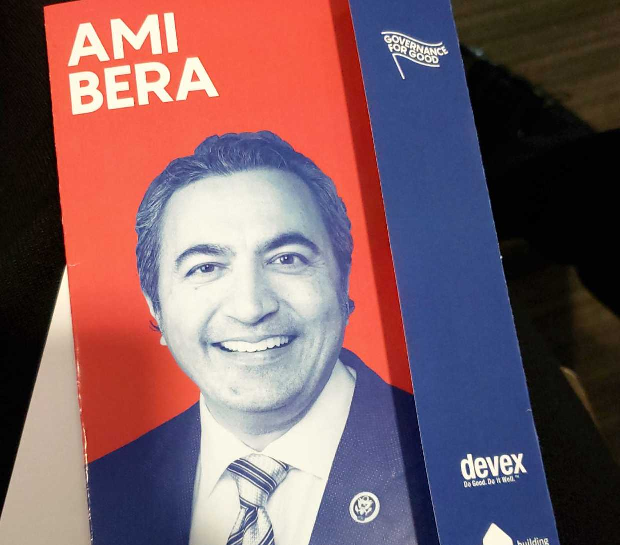 Event flyer with Ami Bera's image