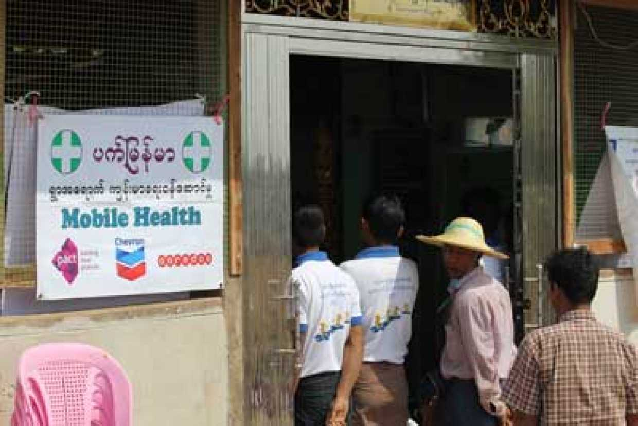 Mobile health clinic in Myanmar funded through shared value partnerships