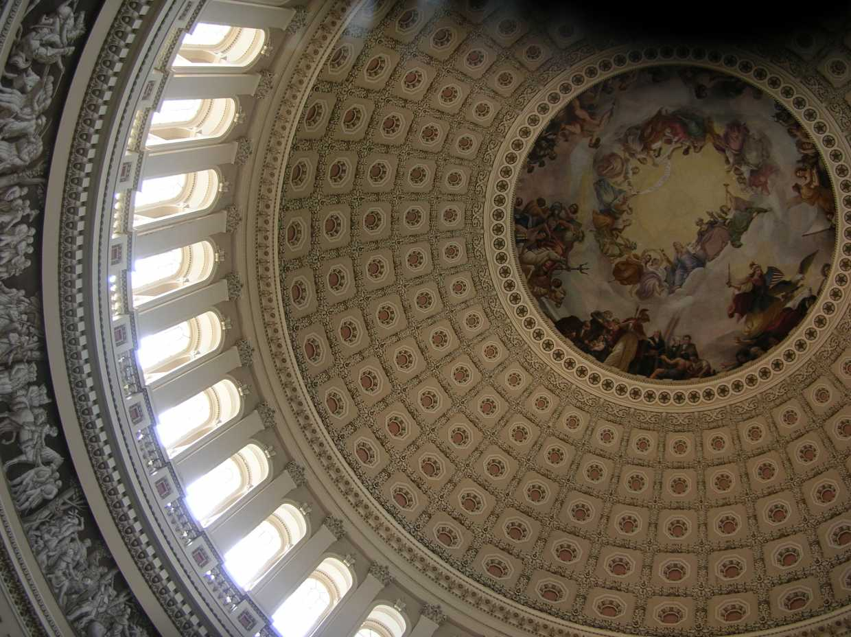 US Capitol dome interior view