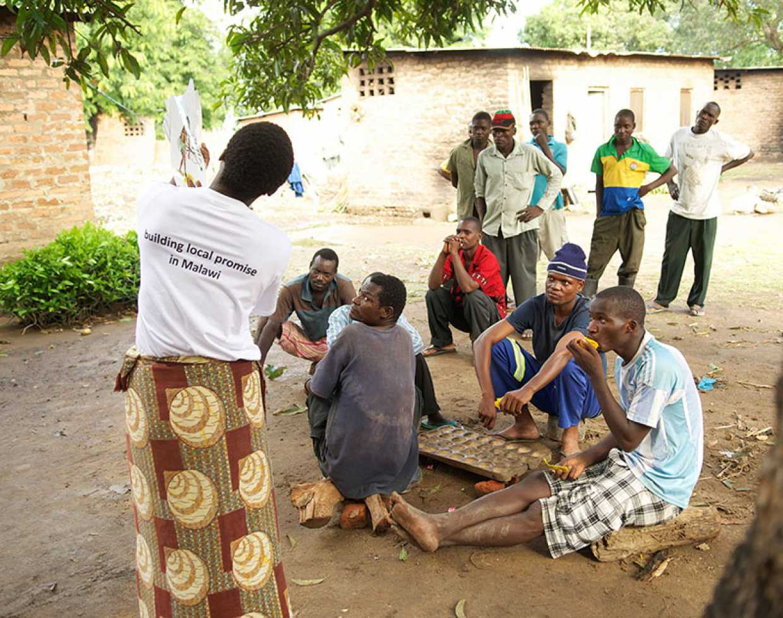 community meeting in Malawi