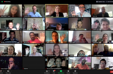 Hackathon participants gather virtually.