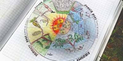 Jean Fillippe Paky's representation of the natural life cycle. (Photo: SCIOA)