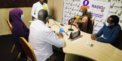 Radio call-in show in Somalia