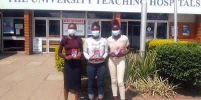 Justina Yumba was one of three digital skills training participants chosen for an internship at Lusaka's University Teaching Hospital ICT department. Credit: DREAMS