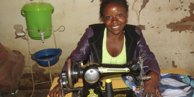 Eliane's dream is to have a workshop equipped with many sewing machines that will allow her to teach sewing to other children who have left the quarries in her community. (Credit: Pact)
