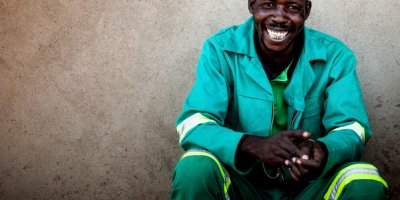 A miner in Zimbabwe who participates in Pact's Zimbabwe Accountability and Artisanal Mining Program. (Credit: Maggie Dougherty/Pact)