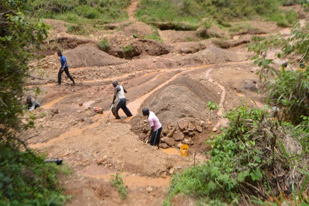 A mine site in the Democratic Republic of Congo (Credit: Pact)