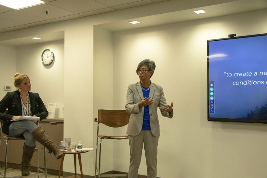 Former USAID chief innovation officer visits Pact to discuss social sector impact