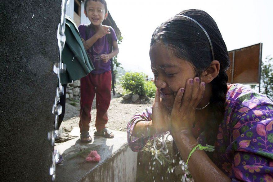 For Nepal's pint-sized citizens, new kids' taps deliver hydration, hygiene & fun