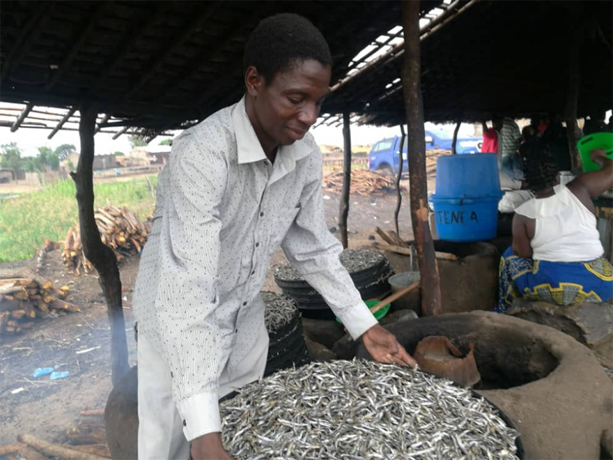 A fish processor in Malawi protects the environment, one stove at a time