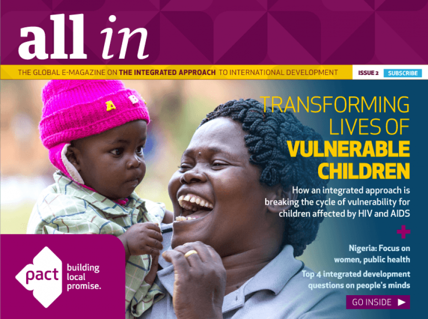 Pact e-magazine highlights progress for children affected by HIV