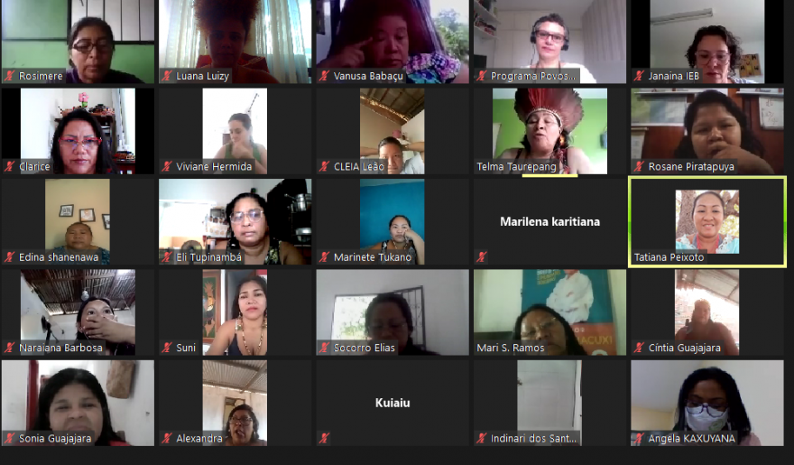 Pact local partner holds first virtual assembly of Amazonian indigenous women across Brazil