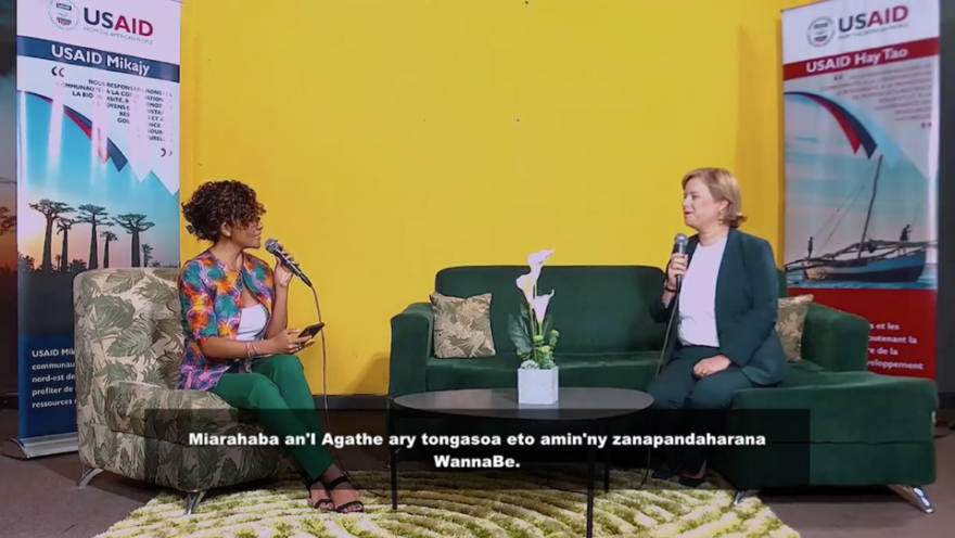 """The """"Wanna Be"""" TV segments aired on national television in May to educate and inform young people related to Menabe Antimena's issues. (Credit: Pact)"""