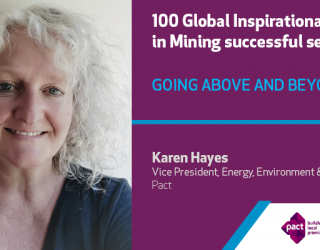 Pact's Karen Hayes celebrated in 100 Global Inspirational Women in Mining publication