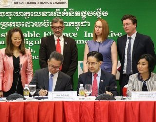 With Pact's support, Cambodian banks commit to developing sustainable financing principles
